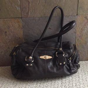 Elliott Luca brown leather handbag